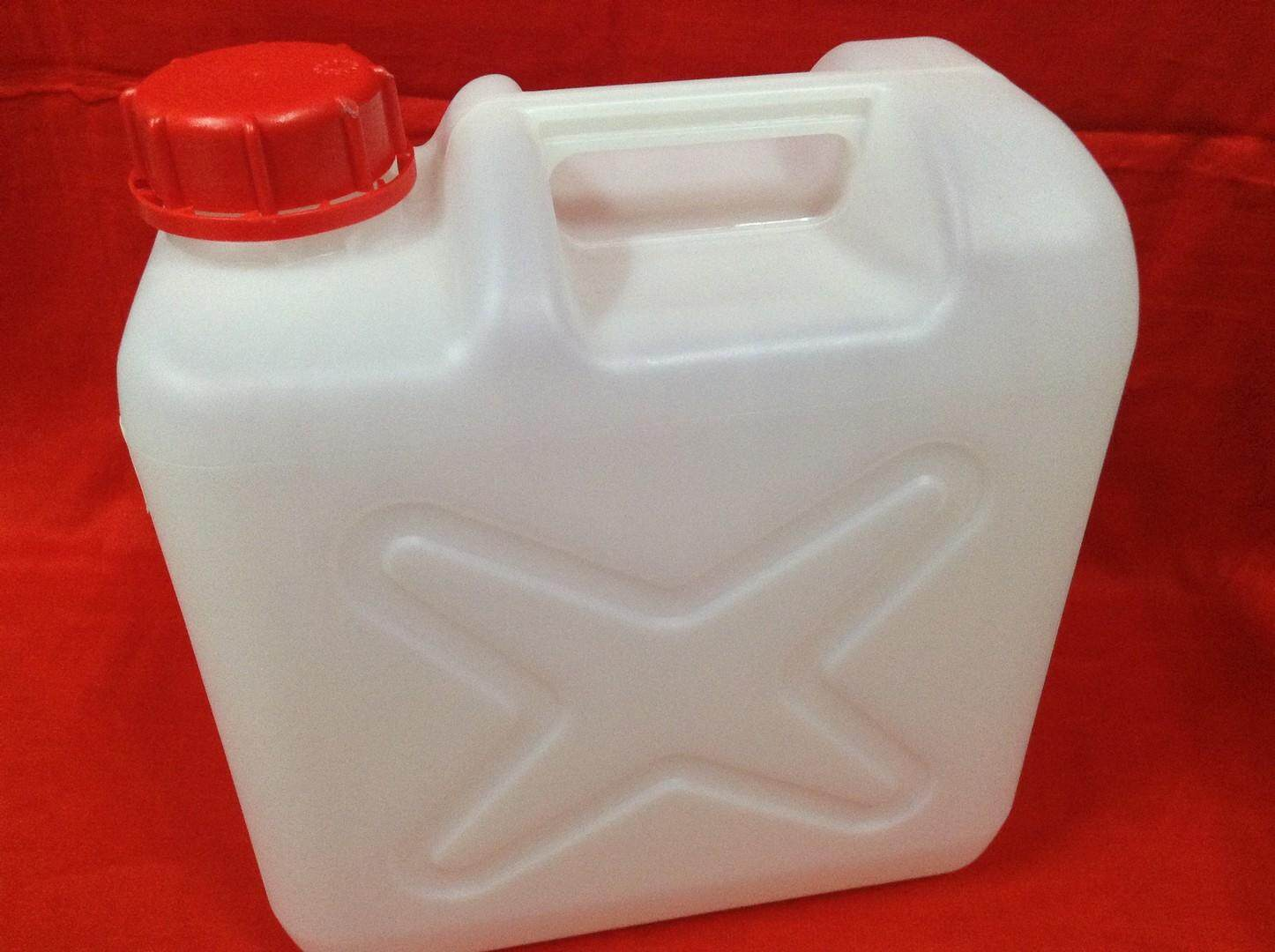1pc Jerry Can 10 Liter For Petrol, Chemical, Alkaline Water. Ship In 6 Hours ! (off White) By Nayomi Houseware.