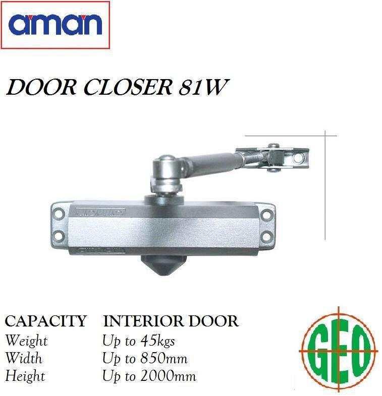 AMAN 81W DOOR CLOSER HOLD UP TO 45KG DOOR WEIGHTS [ GEOLASER ]
