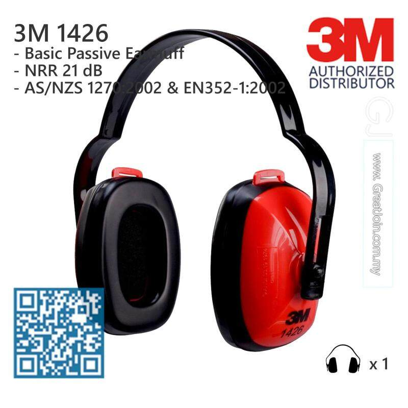 3M 1426 Ear Muff/ Earmuff / Ear Protection/ Hearing Protection/ Safety/ Noise Reduction Rate(NRR) 21 dB