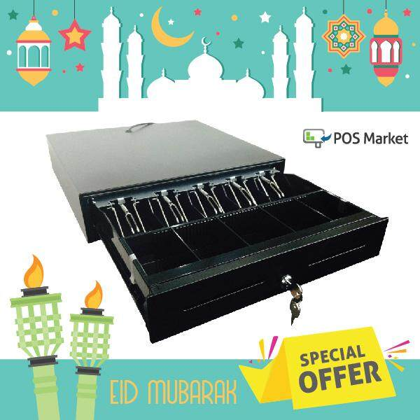 POS System Metal Cash Drawer comes with 5 Segments, Keylock, RJ11 and Removable Tray Malaysia