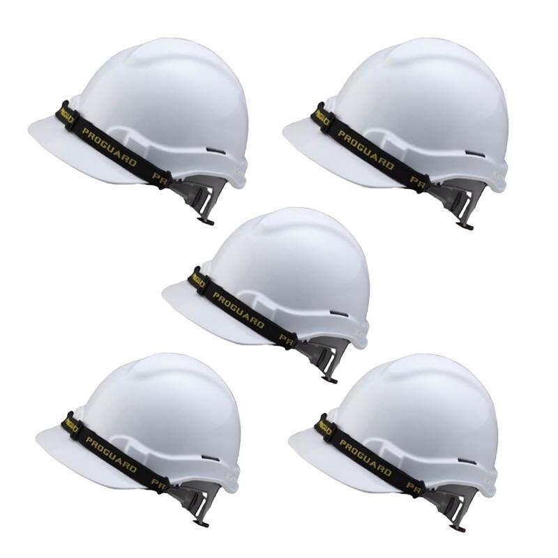 EzSpace 5pcs Proguard White Safety Helmet Sirim Certified