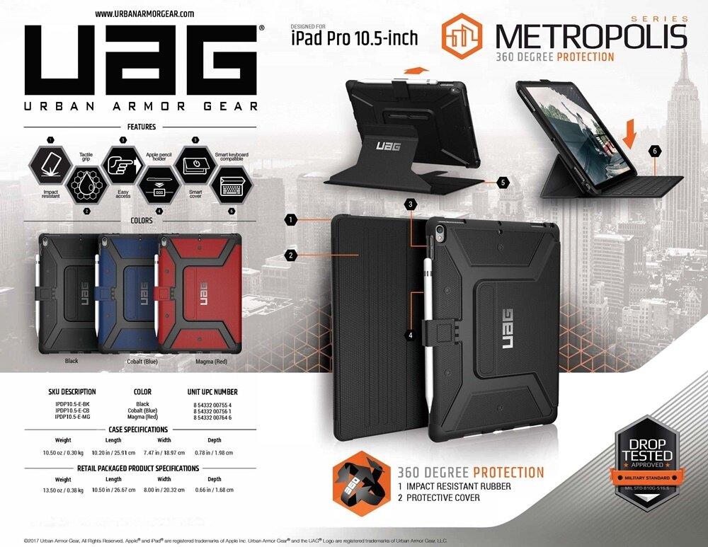 reputable site b7ebe 550e9 UAG - Metropolis Case for iPad Pro 10.5