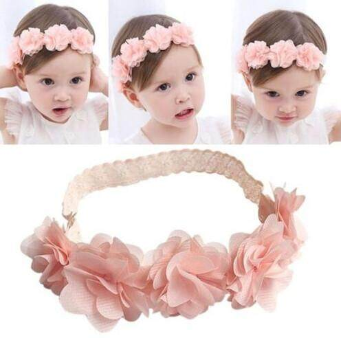 a4111810777 Toddler Baby Girl Kids Elastic Floral Headband Hair Girls baby Hairband  Headwear