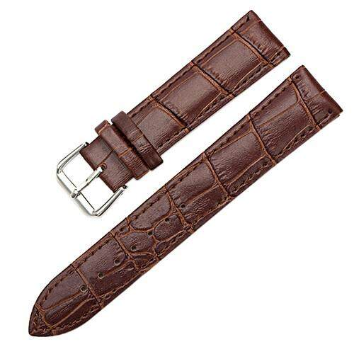 Bluelans® 16mm Womens Mens Unisex Faux Leather Watch Strap Buckle Band Malaysia