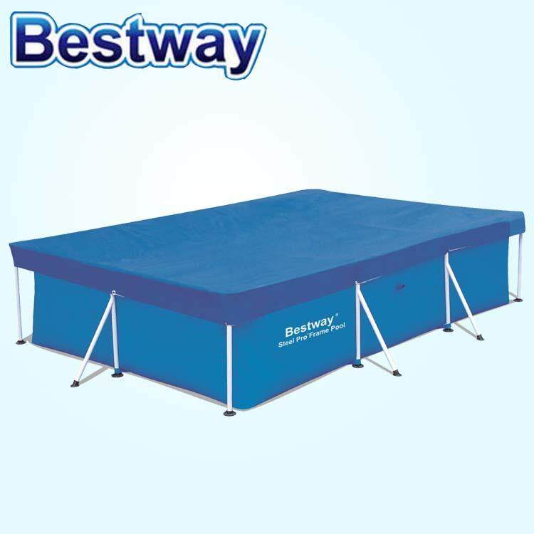 Bestway 3 Meter Swimming Pool Cover Dust And Rainproof Comapatible With Intex Pool Large Pool Cover  Anti Dust pool Cover Rainproof Pool Cover Penutup Kolam Renang 3 Meter Bestway Anti Habuk dan Anti Hujan Sesuai Untuk Kolam Renang Intex