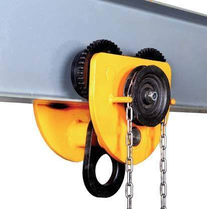 【Promotions】1 Ton Pull Capacity Adjustable Stainless Steel Push Trolley Beam Girder Precision Tool Yellow