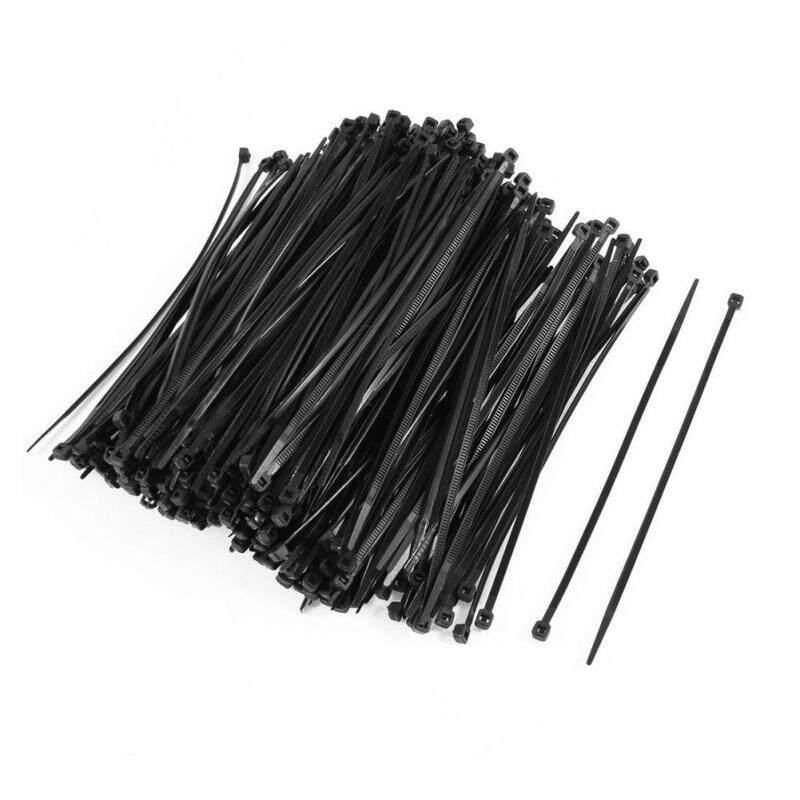 350PCS Plastic Self Locking Packaging Cable Zip Ties Fastener 4x150mm