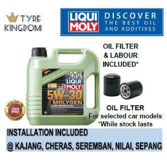 Engine Oil Service Package Liqui Moly New Generation Molygen Fully Synthetic 5w30 4l (with Installation) By Tyre Kingdom.