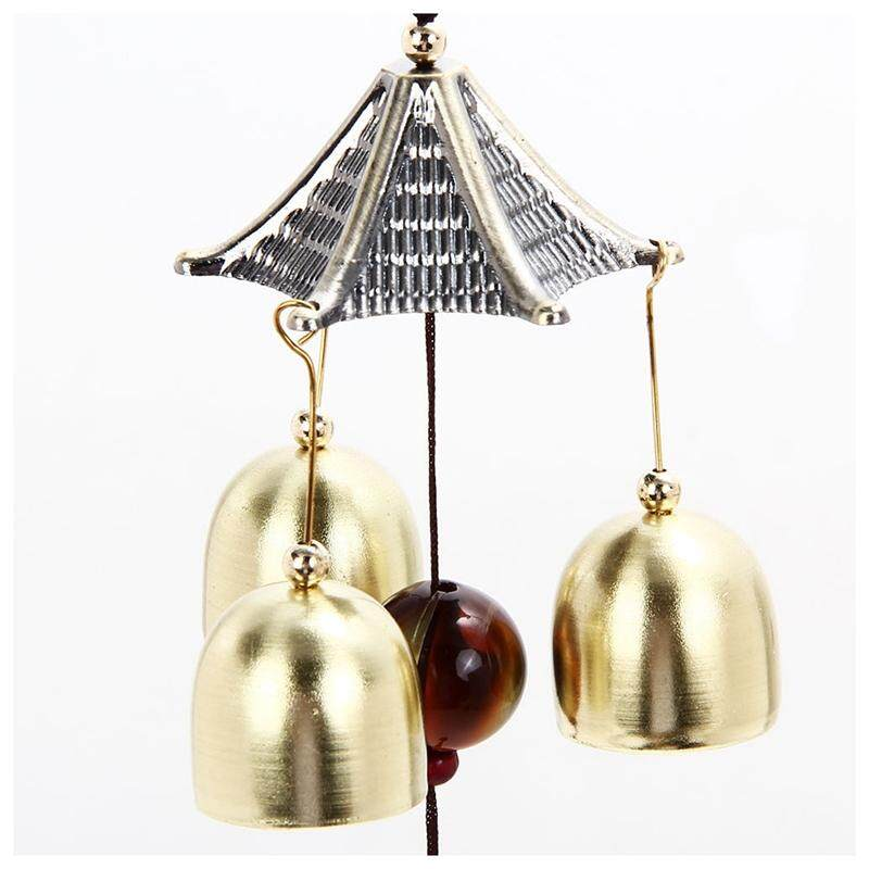 Outdoor Living Yard Wind Chimes Hanging Docor Garden Copper Windchimes 3 Bells S By Fastour.