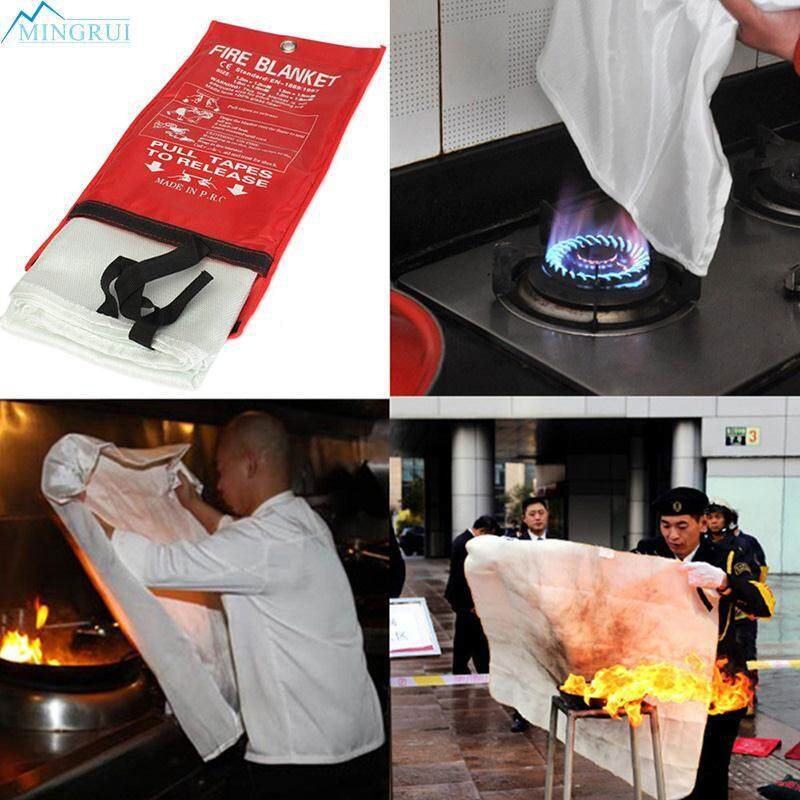 1m Sealed Fire Blanket Home Kitchen Safety Fighting Fire Extinguishers Tent By Mingrui.