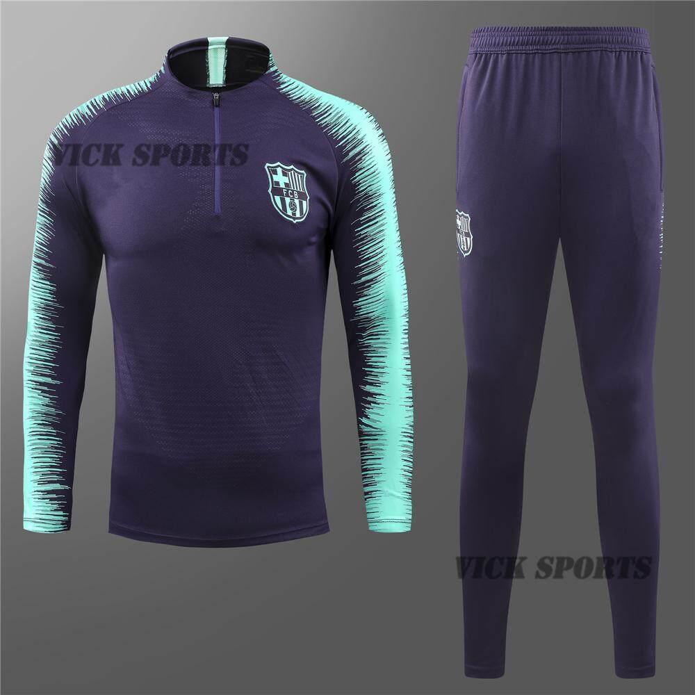 size 40 aedf9 990af 18/19 Pure Barcelona Football Jersey Long Sleeve T-Shirt Training Wear  Sportswear And Pants Suit Running Suit Training Suit Sweatshirt Kit Half  Zipper ...
