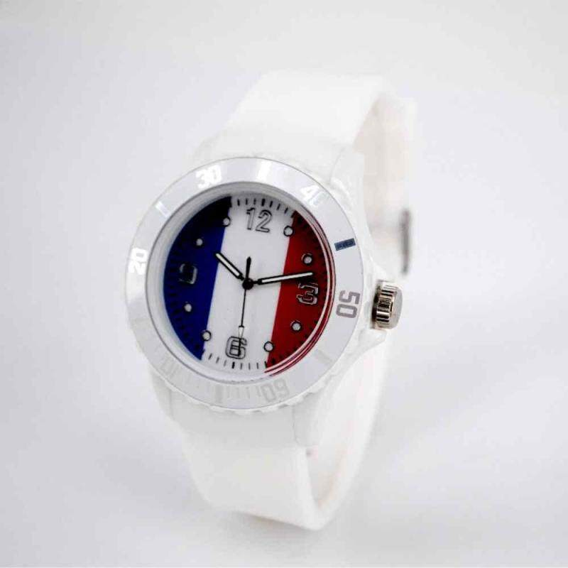 huyia World Cup 2018 Flag Pattern Dial Silicone Band Analog Quartz Wrist Watch Soft Italy Malaysia