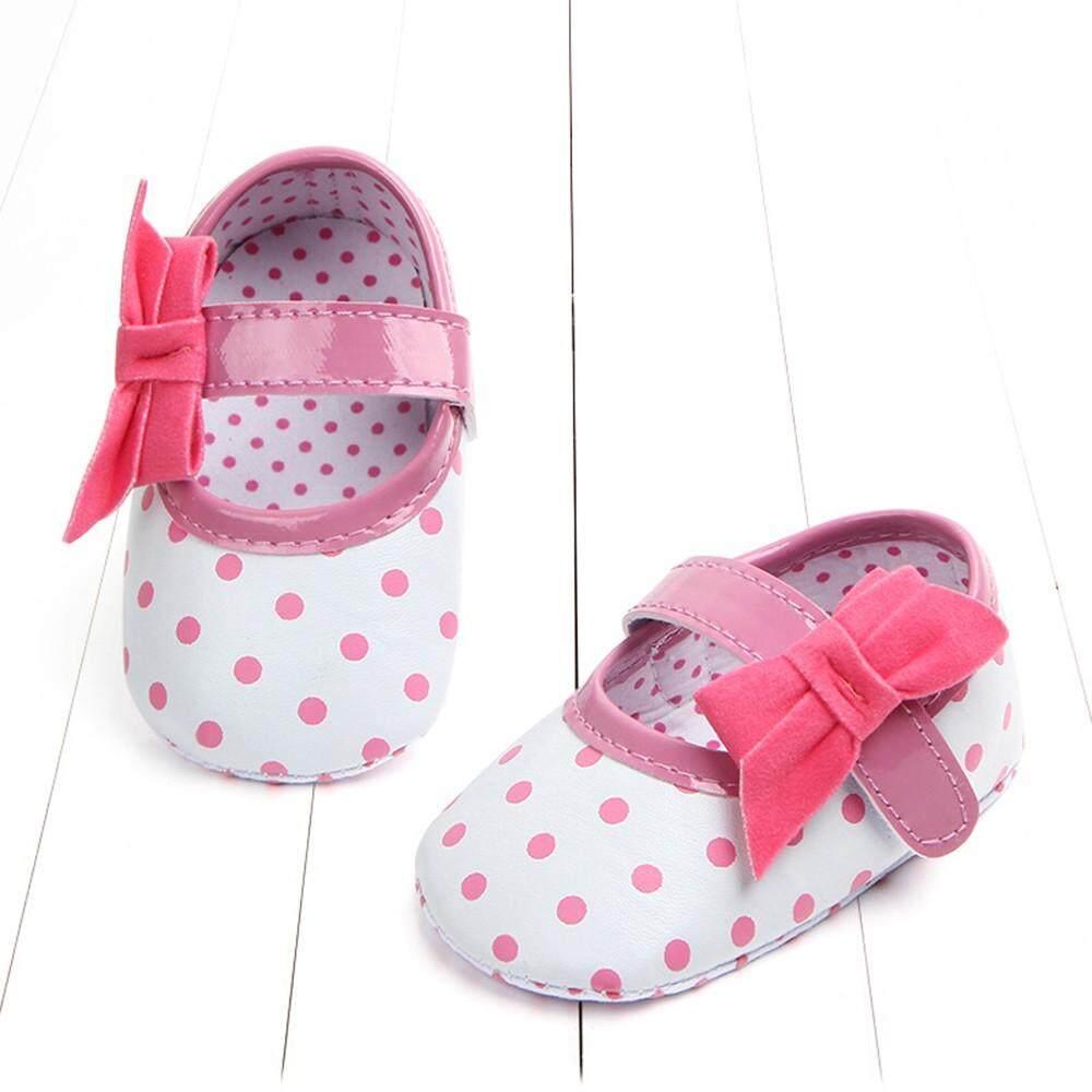 Loyal Baby Shoes Soft Bottom Antiskid Toddler Kids Polka Dot Bowknot Shoes Baby Shoes