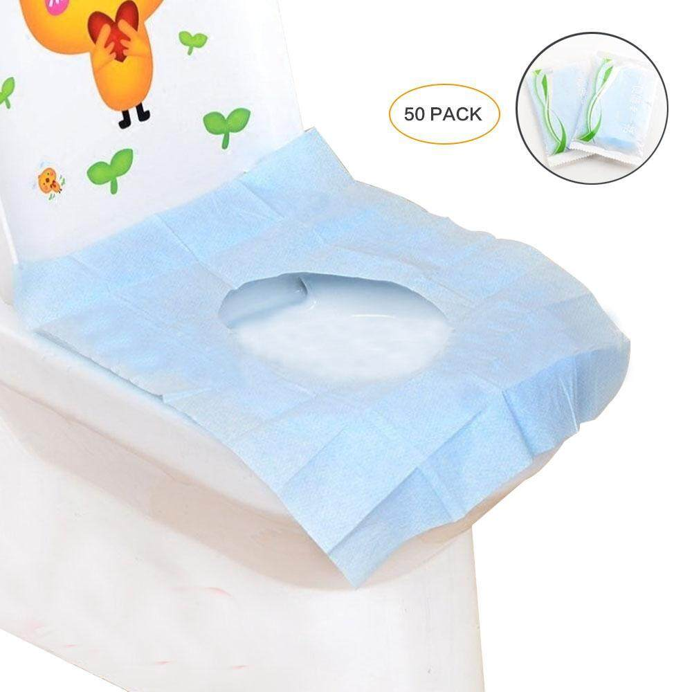 Excellent 50Pcs Travel Toilet Seat Cover Disposable Portable Waterproof Toilet Seat Paper Caraccident5 Cool Chair Designs And Ideas Caraccident5Info