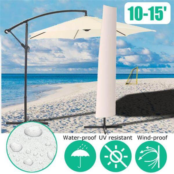 10-15 Patio Umbrella Protective Cover Winter Outdoor Waterproof Parasol Protect