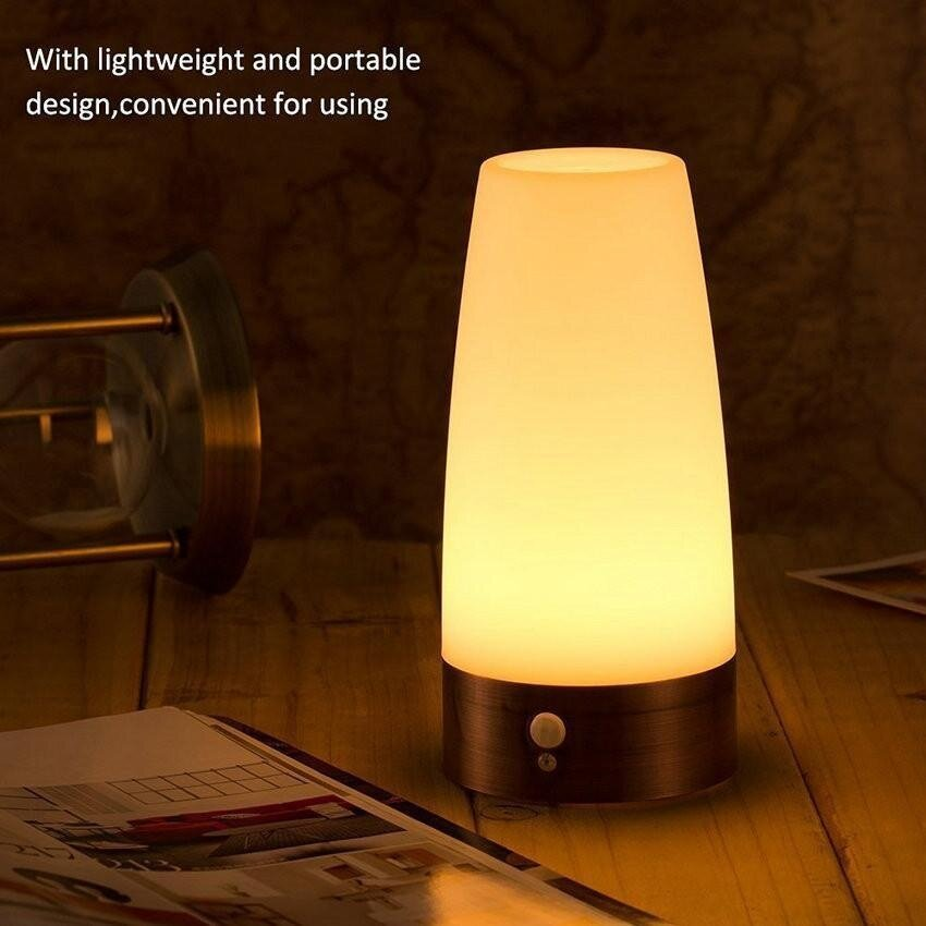 niceeshop wireless motion sensor led table lamp battery. Black Bedroom Furniture Sets. Home Design Ideas