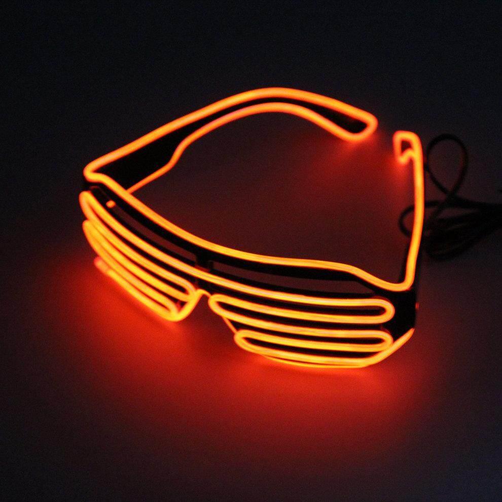 Popo Plastic Led Glasses Light Up Shades Flashing Rave Wedding Party Glasses Orange By Bulapopo.
