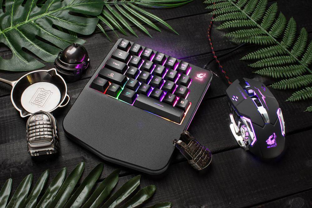 Bnenesmont K11 Wired 28 Keys LED Backlit Usb Ergonomic Single Hand Keypad Gaming Keyboard Malaysia