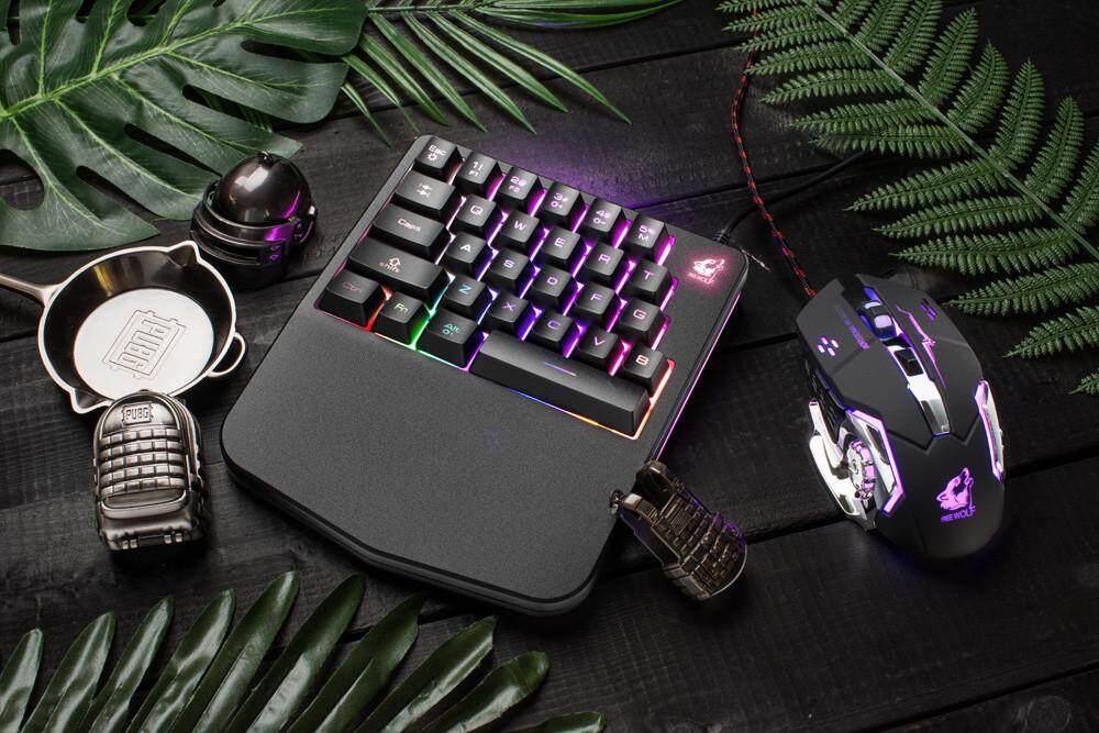 Bnenesmont K11 Wired 28 Keys LED Backlit Usb Ergonomic Single Hand Keypad Gaming Keyboard Malaysia