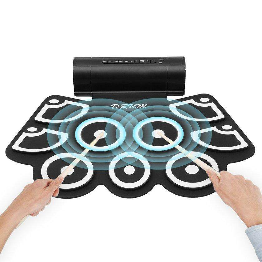 Makeac Usb Electronic Drum Md760 Foldable Digital Usb Drum Kit Delicate And Portable By Makeacall.