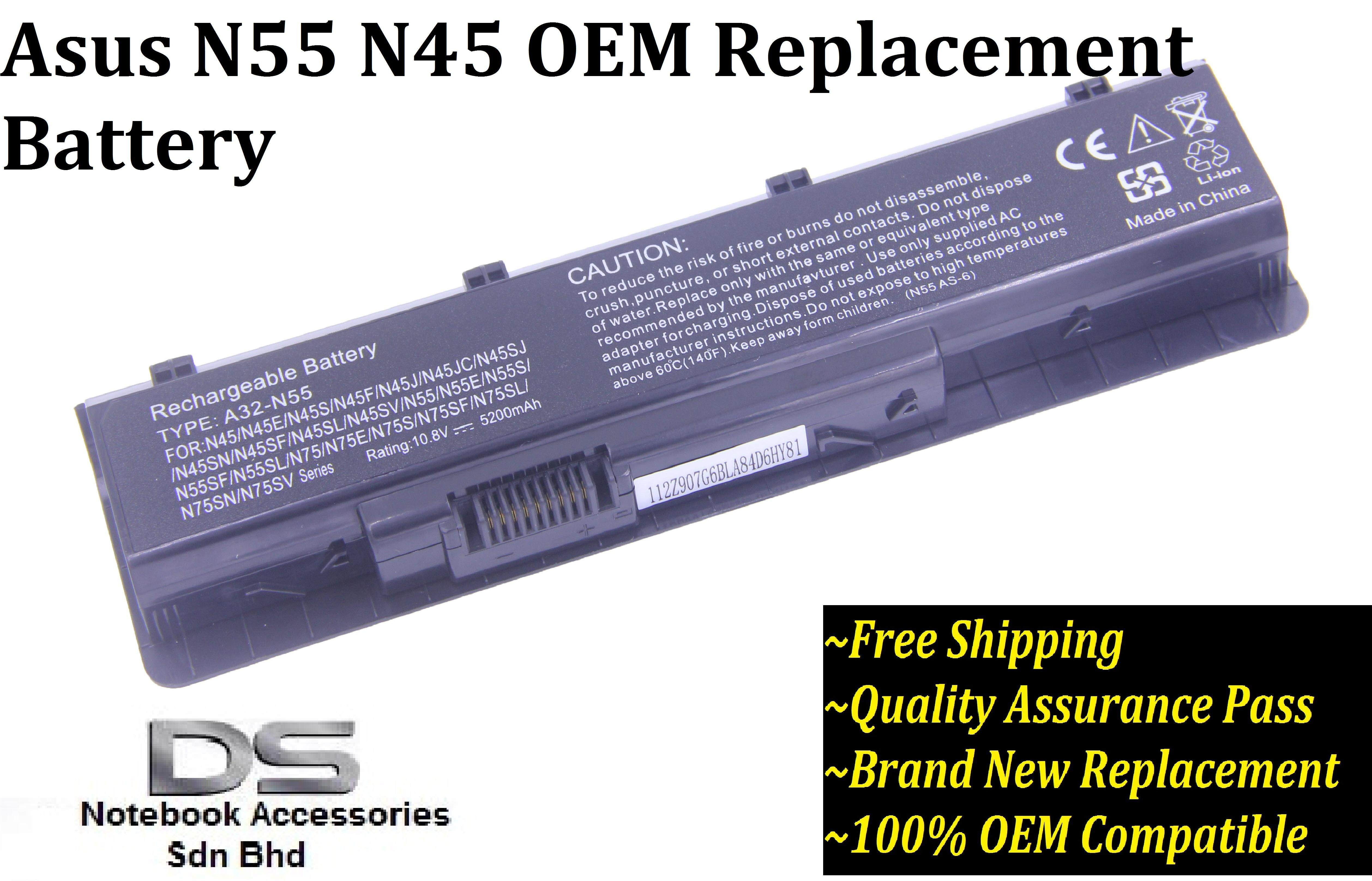 Asus N45SL Battery /Asus N45 battery Malaysia