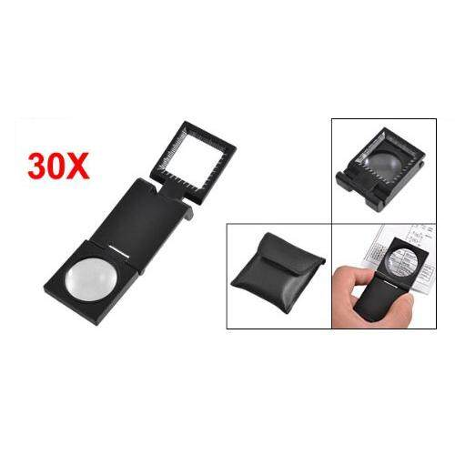 Black Metal Folding Magnifier Magnifying Glass Loupes 8X