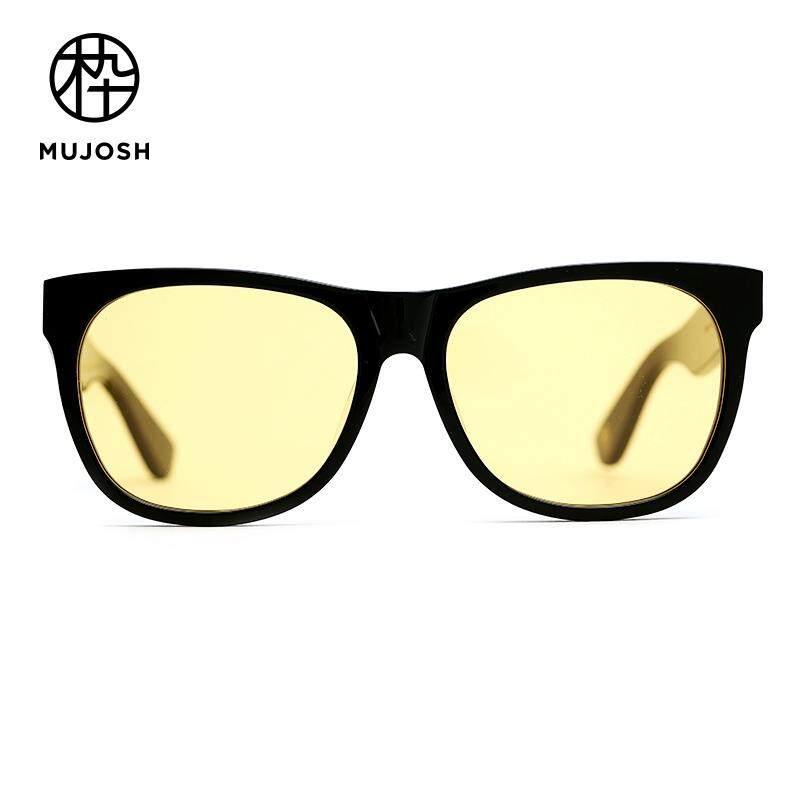 76373b5a8c MUJOSH Men Acetate Nylon TR90 Lens Square Retro Classical Sunglasses  SM1820152C01
