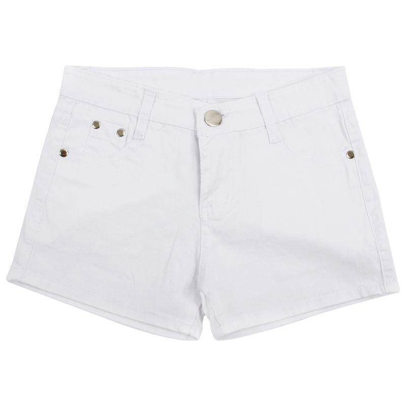 Summer Denim Shorts Slim Fit Candy Color Short Pants Short Jeans Women Shorts Denim White M=27 By Fastour.
