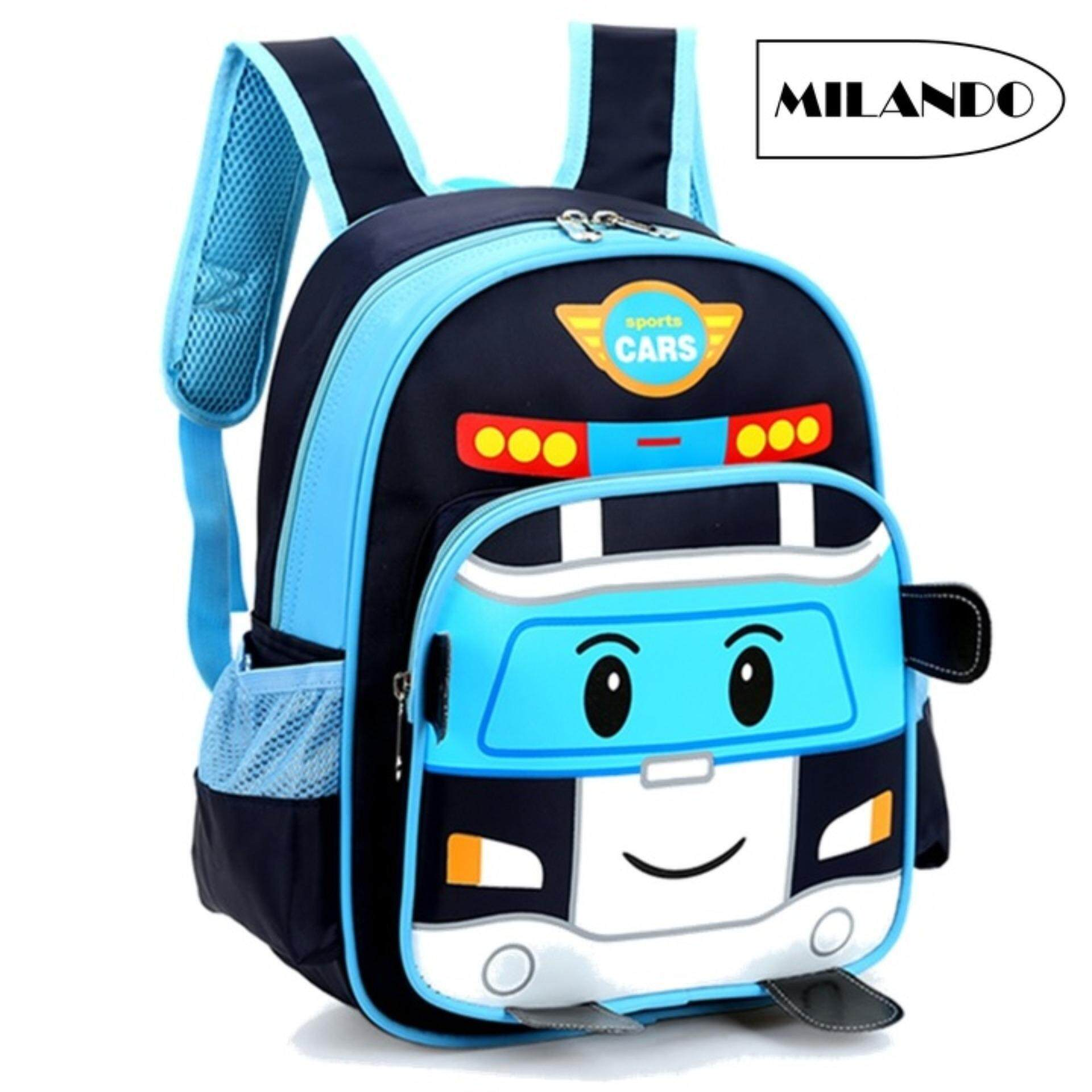 eeb3b9beb8 MILANDO Kid Poli Car Design School Bag Backpack Kindergarten Bag Bags Beg  Sekolah
