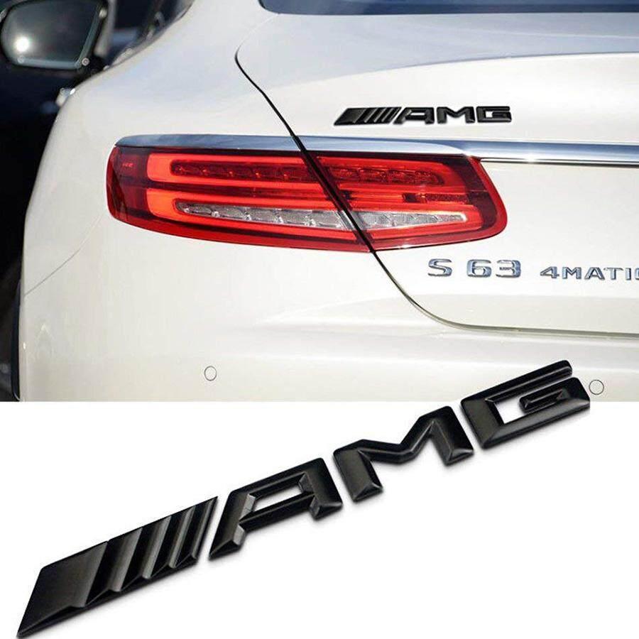 New Style AMG Emblem 3D ABS Black Trunk Logo Badge Decoration For Mercedes-Benz