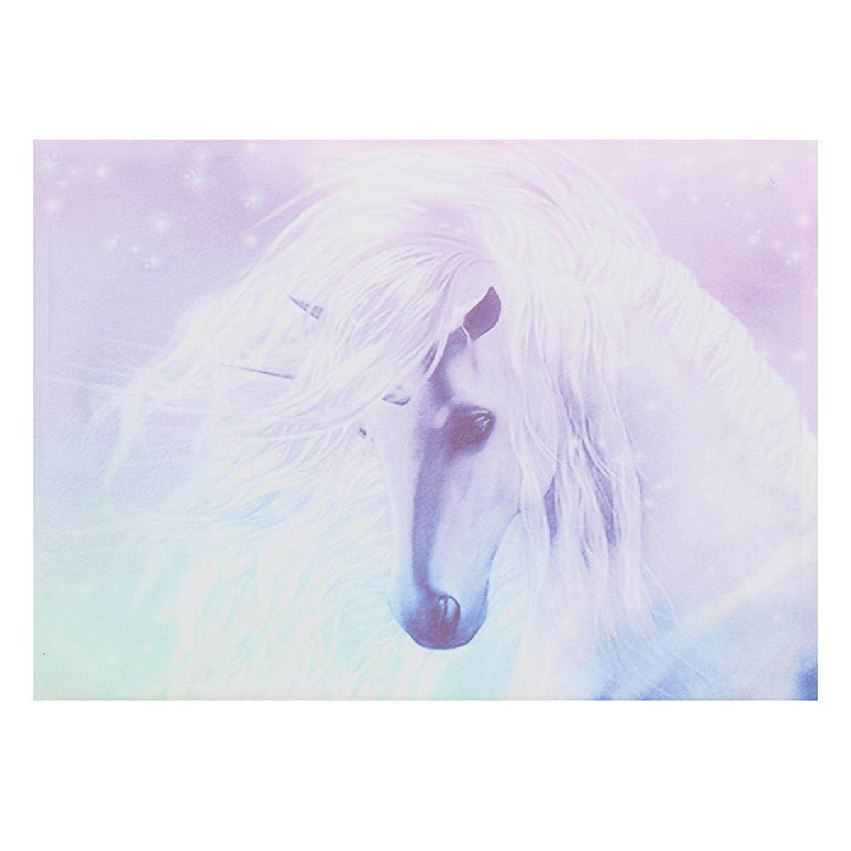 Unicorn Canvas Print Art Painting Wall Picture Home Kids Room Decor Cartoon # Framed 50*70cm