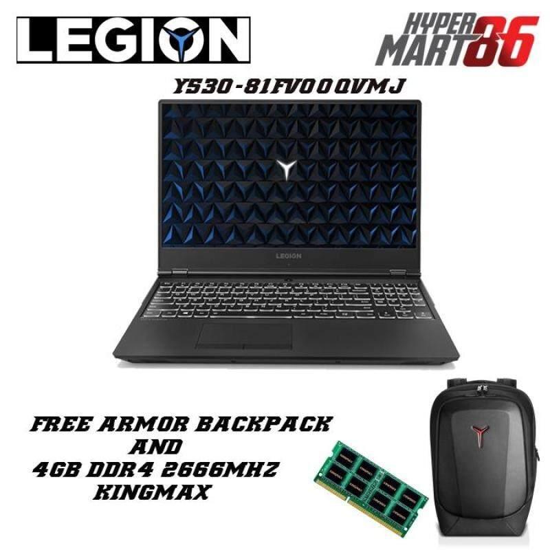 Lenovo Legion Y530-15ICH 81FV00QVMJ Gaming Notebook (15.6inch/Intel I7/8GB/1TB+16GB/GTX1050 4GB) Malaysia