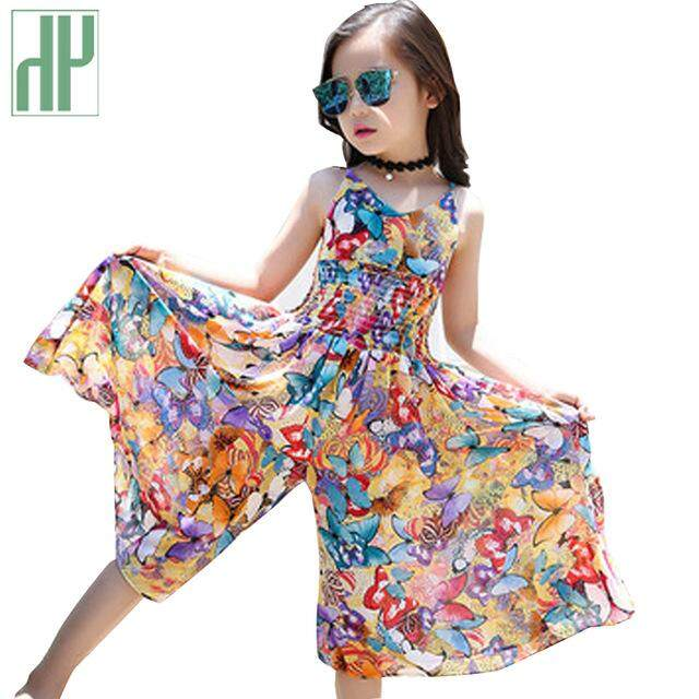 c6cbd36a1 Children clothing Bohemia Kids Summer Overalls Sleeveless Girls Jumpsuit For  Teenager Kids Dresses Costume