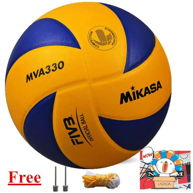 Mikasa MVA 330 Volleyball Soft PU Volley Ball MVA330 free with inflaor and net bag and