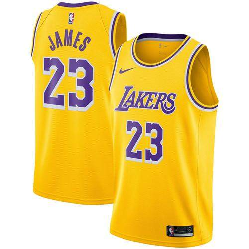 6a6a6b1db51 Nike Official MEN Los Angeles Lakers LeBron James  23 Gold 2018-19 Swingman  Basketball