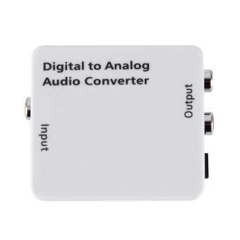 Paling murah White Digital Optical Toslink Coax to Analog R/L/RCA Audio Signal Converter Adapter- EU Plug kajian semula - Hanya RM32.13