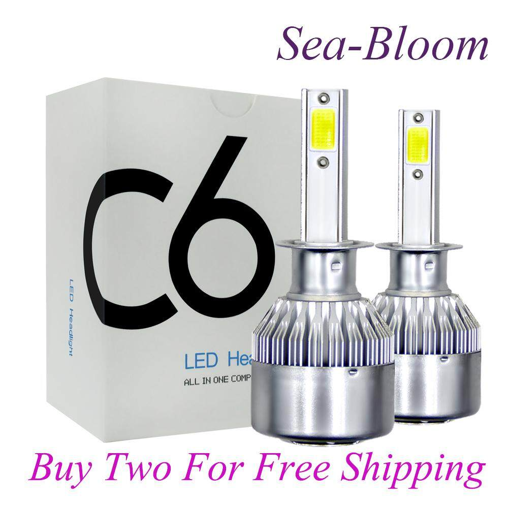 Lighting Electrical Buy At Best Price In Power Relay Malaysia Sea Bloom C6 200w 20000lm H3 6000k White Cree Led Headlight Bulbs Kit