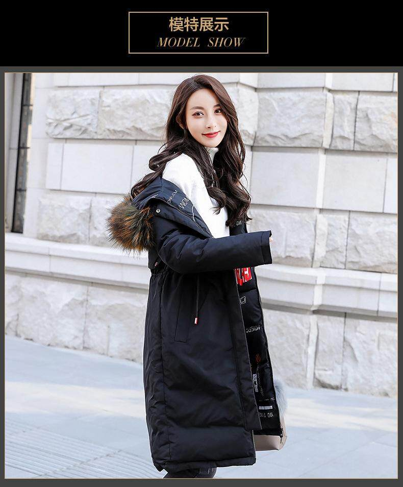 820ab4091a5 New Hot Women Winter Down Coat Fashion Female Big Fur Collar Duck Parkas  Jacket Thick Warm Elegant Down Coat Slim Wadded Jacket