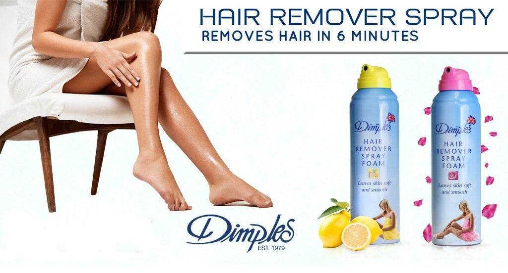 Dimples Hair Removal Spray Foam Lemon Fragrance 200ml Flash Deal