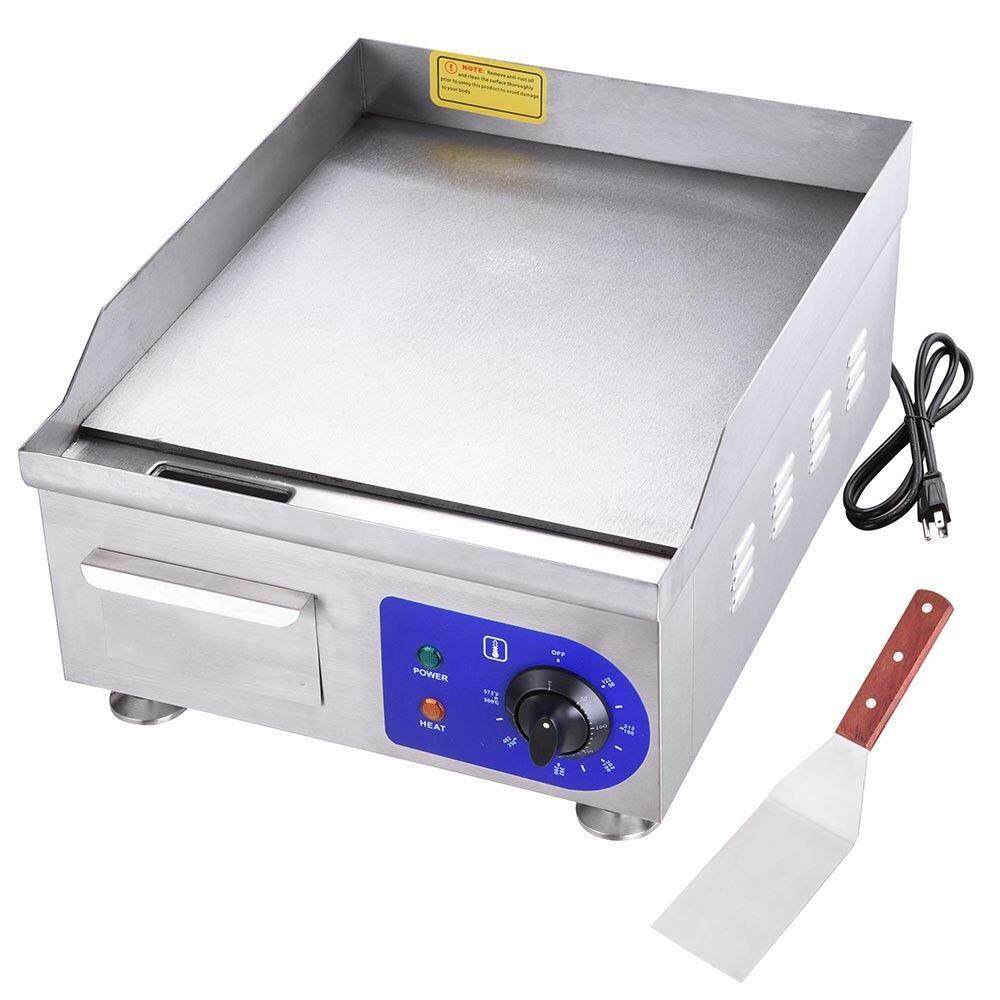 1500W Electric Countertop Griddle Flat Top Commercial Restaurant Grill BBQ