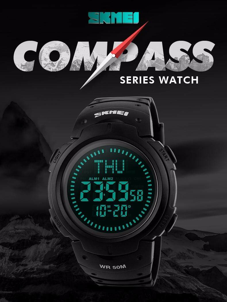 New Brand Outdoor Sports Compass Watches Hiking Men Watch Digital Led Electronic Watch Man Sports Watches Chronograph Men Clock And To Have A Long Life. Watches Men's Watches