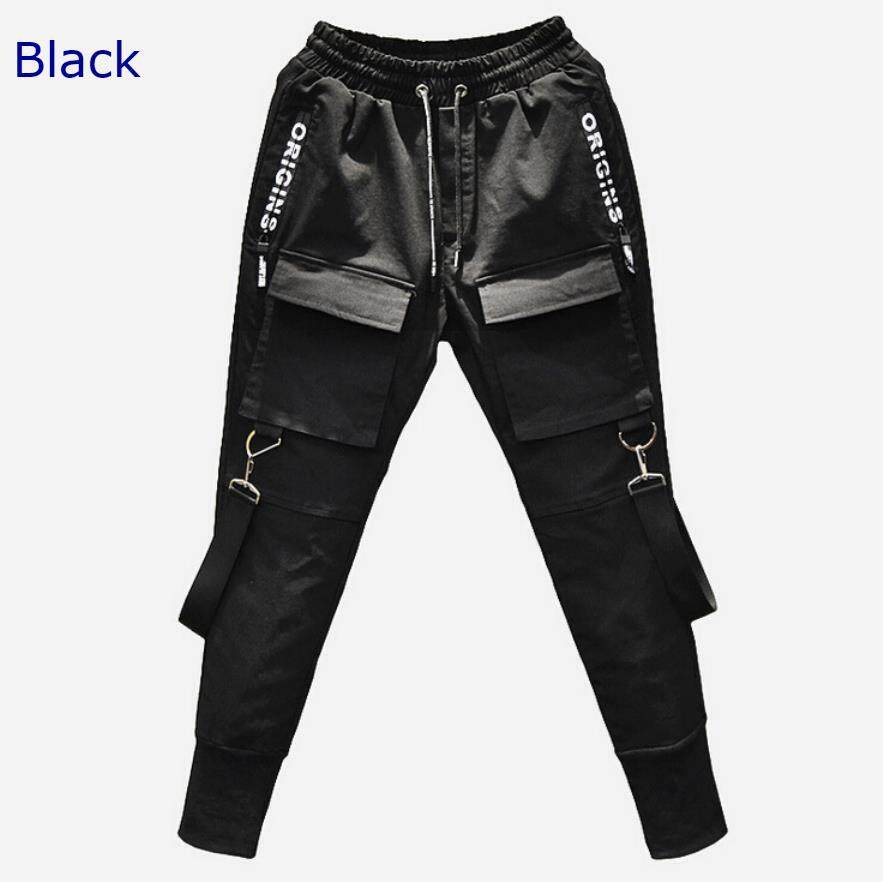 New Korean casual pants (factory direct supply) (hip hop) (Black K558