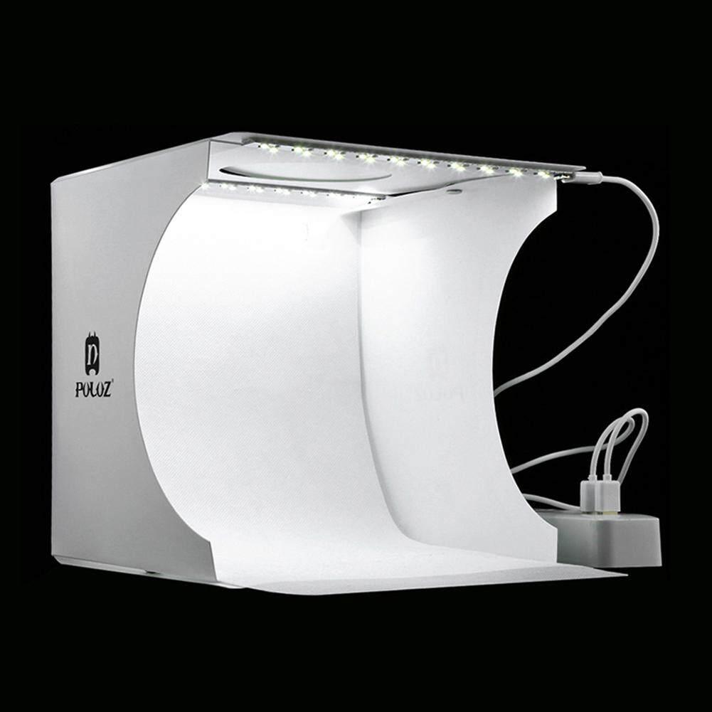 PULUZ Mini Folding Lightbox Photography Photo Studio Softbox 2 Panel LED  Light Soft Box Photo Background Kit Light box for DSLR Camera
