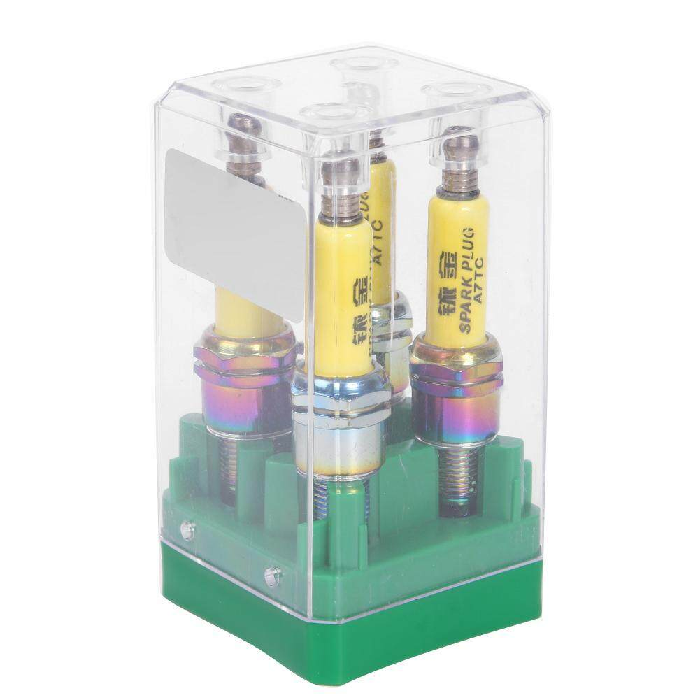 High Performance A7TC Spark Plug for Motorcycle Scooter ATV Dirt Bike  Moped(Yellow)-1 pc