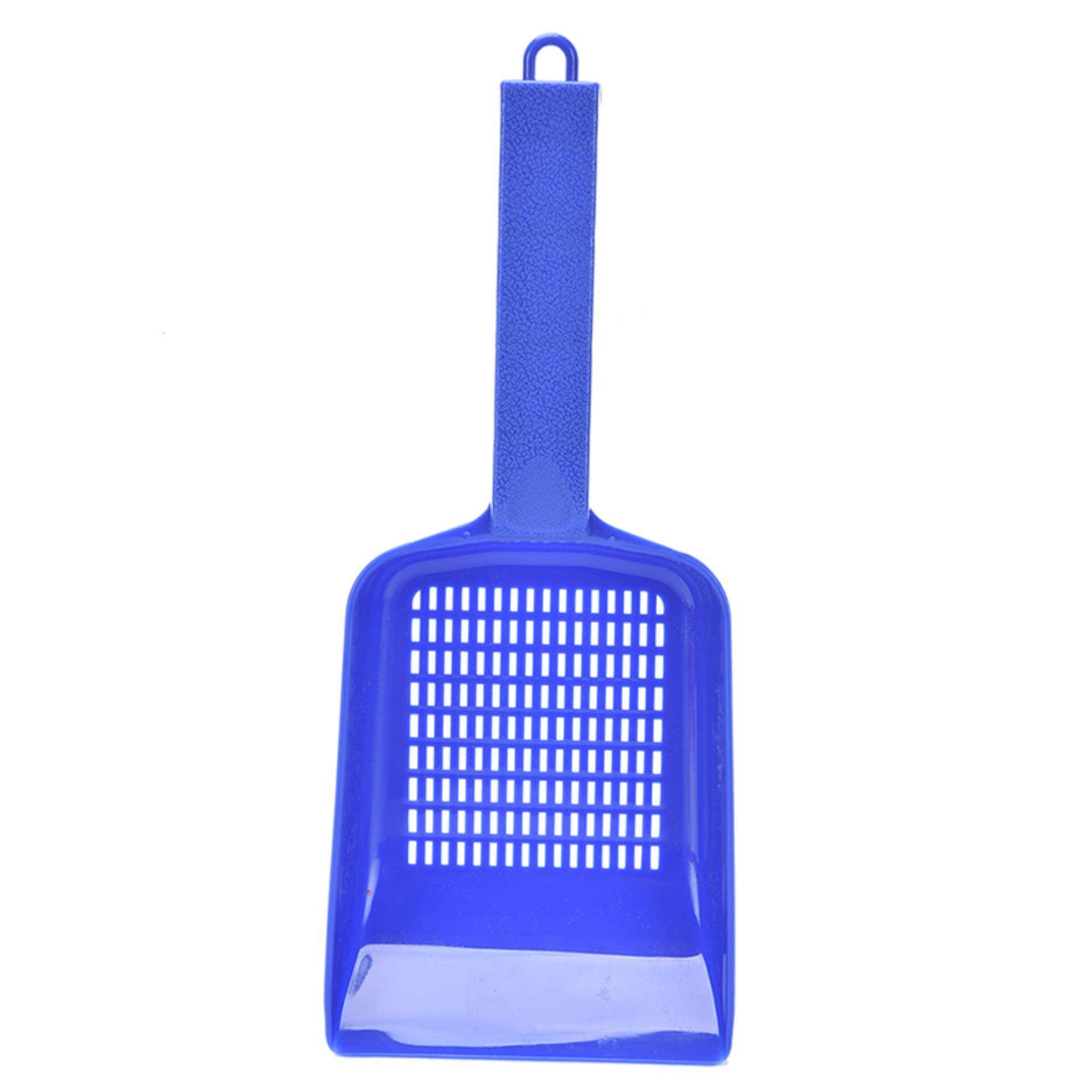 Mecola Plastic Cat Kitty Litter Shovel Poop Waste Scoop Cat Owners Supplies Blue