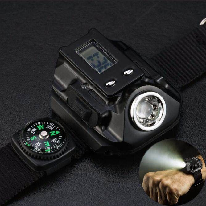 Tactical Rechargeable Led Flashlight Wristlight Wrist Light Lamp Waterproof By Dakeres.
