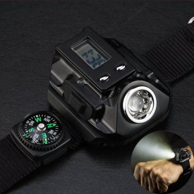 Tactical Rechargeable Led Flashlight Wristlight Wrist Light Lamp Waterproof By Dakeres.