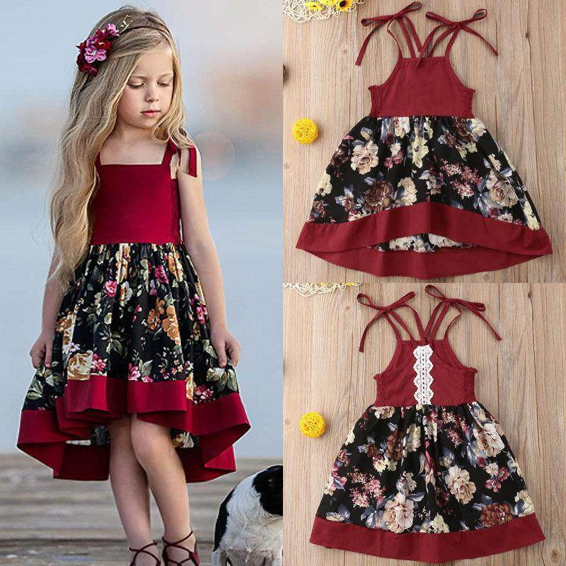 e3bea0eca Baby Girls Dress Kids Baby Party Flower Lace Dresses Birthday Party Tutu  Dress