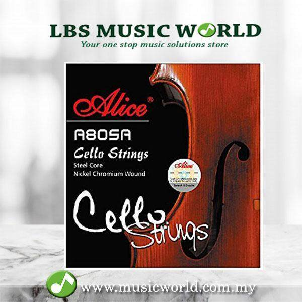 Alice A805A Cello String Set Steel Core Nickel Chromium Alloy Wound Cello Strings A D G C Malaysia