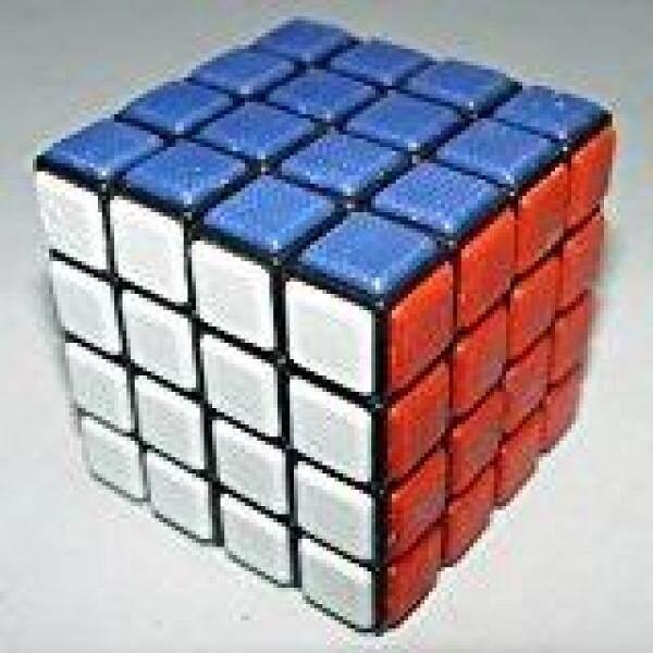 SK QJ 4x4 Tile Puzzle Cube Black